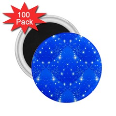 Background For Scrapbooking Or Other With Snowflakes Patterns 2.25  Magnets (100 pack)