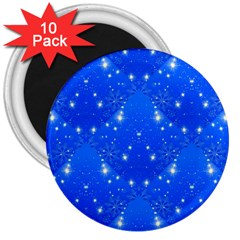 Background For Scrapbooking Or Other With Snowflakes Patterns 3  Magnets (10 pack)
