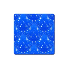Background For Scrapbooking Or Other With Snowflakes Patterns Square Magnet