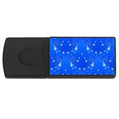 Background For Scrapbooking Or Other With Snowflakes Patterns USB Flash Drive Rectangular (1 GB)
