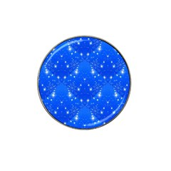 Background For Scrapbooking Or Other With Snowflakes Patterns Hat Clip Ball Marker (10 pack)