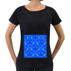 Background For Scrapbooking Or Other With Snowflakes Patterns Women s Loose Fit T Shirt (black)