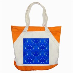 Background For Scrapbooking Or Other With Snowflakes Patterns Accent Tote Bag