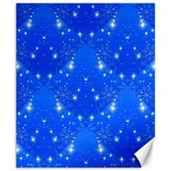 Background For Scrapbooking Or Other With Snowflakes Patterns Canvas 8  x 10