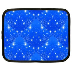 Background For Scrapbooking Or Other With Snowflakes Patterns Netbook Case (large)