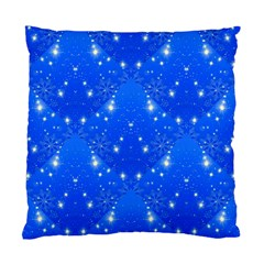 Background For Scrapbooking Or Other With Snowflakes Patterns Standard Cushion Case (One Side)