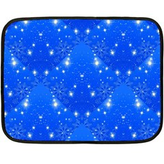 Background For Scrapbooking Or Other With Snowflakes Patterns Double Sided Fleece Blanket (Mini)