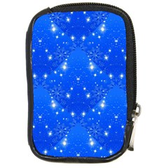 Background For Scrapbooking Or Other With Snowflakes Patterns Compact Camera Cases