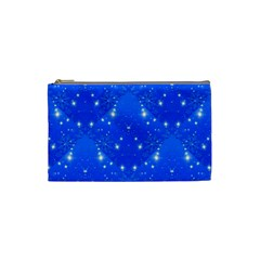 Background For Scrapbooking Or Other With Snowflakes Patterns Cosmetic Bag (small)
