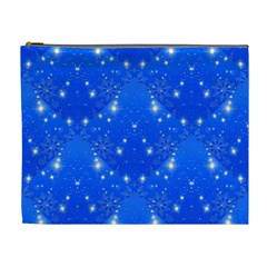 Background For Scrapbooking Or Other With Snowflakes Patterns Cosmetic Bag (xl)