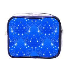 Background For Scrapbooking Or Other With Snowflakes Patterns Mini Toiletries Bags