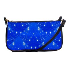 Background For Scrapbooking Or Other With Snowflakes Patterns Shoulder Clutch Bags