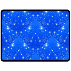 Background For Scrapbooking Or Other With Snowflakes Patterns Fleece Blanket (Large)