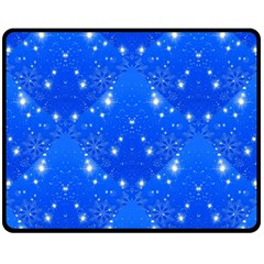 Background For Scrapbooking Or Other With Snowflakes Patterns Fleece Blanket (medium)