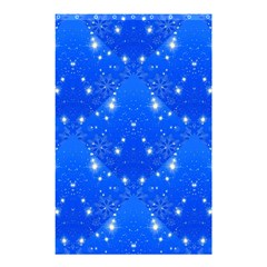 Background For Scrapbooking Or Other With Snowflakes Patterns Shower Curtain 48  x 72  (Small)