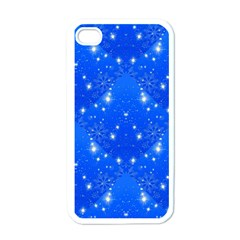 Background For Scrapbooking Or Other With Snowflakes Patterns Apple iPhone 4 Case (White)