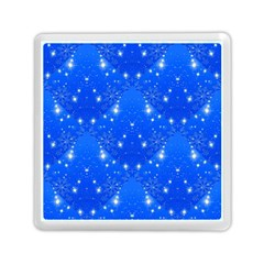 Background For Scrapbooking Or Other With Snowflakes Patterns Memory Card Reader (Square)