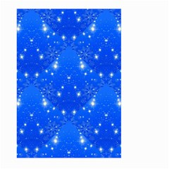 Background For Scrapbooking Or Other With Snowflakes Patterns Large Garden Flag (Two Sides)