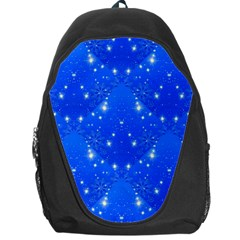 Background For Scrapbooking Or Other With Snowflakes Patterns Backpack Bag