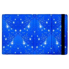 Background For Scrapbooking Or Other With Snowflakes Patterns Apple Ipad 3/4 Flip Case