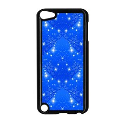 Background For Scrapbooking Or Other With Snowflakes Patterns Apple iPod Touch 5 Case (Black)