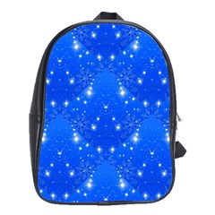 Background For Scrapbooking Or Other With Snowflakes Patterns School Bags (xl)