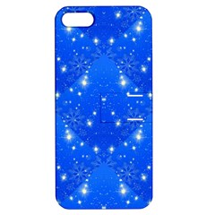 Background For Scrapbooking Or Other With Snowflakes Patterns Apple iPhone 5 Hardshell Case with Stand
