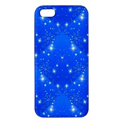 Background For Scrapbooking Or Other With Snowflakes Patterns Apple iPhone 5 Premium Hardshell Case