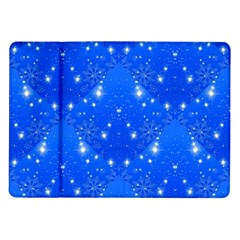 Background For Scrapbooking Or Other With Snowflakes Patterns Samsung Galaxy Tab 10.1  P7500 Flip Case
