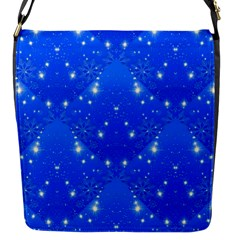 Background For Scrapbooking Or Other With Snowflakes Patterns Flap Messenger Bag (s)