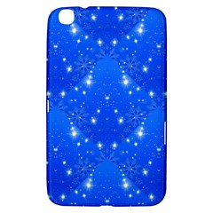 Background For Scrapbooking Or Other With Snowflakes Patterns Samsung Galaxy Tab 3 (8 ) T3100 Hardshell Case