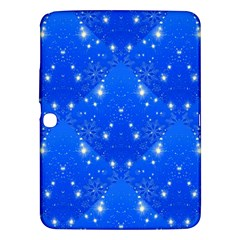Background For Scrapbooking Or Other With Snowflakes Patterns Samsung Galaxy Tab 3 (10.1 ) P5200 Hardshell Case