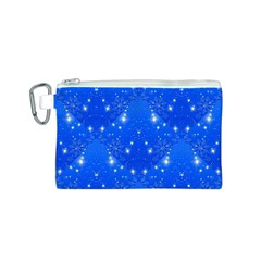 Background For Scrapbooking Or Other With Snowflakes Patterns Canvas Cosmetic Bag (S)