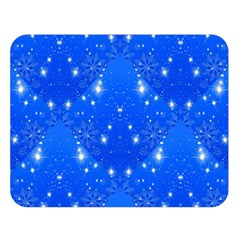 Background For Scrapbooking Or Other With Snowflakes Patterns Double Sided Flano Blanket (Large)