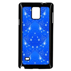 Background For Scrapbooking Or Other With Snowflakes Patterns Samsung Galaxy Note 4 Case (black)