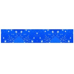 Background For Scrapbooking Or Other With Snowflakes Patterns Flano Scarf (Large)