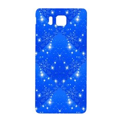 Background For Scrapbooking Or Other With Snowflakes Patterns Samsung Galaxy Alpha Hardshell Back Case