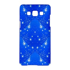 Background For Scrapbooking Or Other With Snowflakes Patterns Samsung Galaxy A5 Hardshell Case