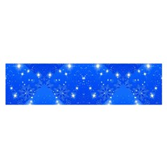 Background For Scrapbooking Or Other With Snowflakes Patterns Satin Scarf (Oblong)