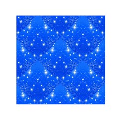 Background For Scrapbooking Or Other With Snowflakes Patterns Small Satin Scarf (Square)