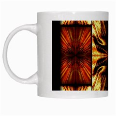 Background Pattern White Mugs