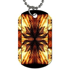 Background Pattern Dog Tag (one Side)
