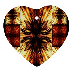 Background Pattern Heart Ornament (Two Sides)
