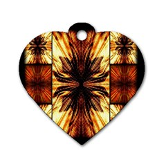 Background Pattern Dog Tag Heart (One Side)