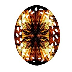 Background Pattern Oval Filigree Ornament (Two Sides)