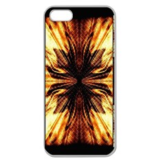 Background Pattern Apple Seamless Iphone 5 Case (clear)