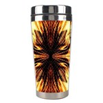 Background Pattern Stainless Steel Travel Tumblers Center
