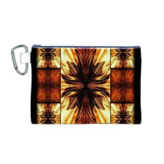 Background Pattern Canvas Cosmetic Bag (M)