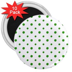 Saint Patrick Motif Pattern 3  Magnets (10 pack)