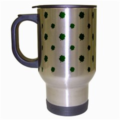 Saint Patrick Motif Pattern Travel Mug (Silver Gray)